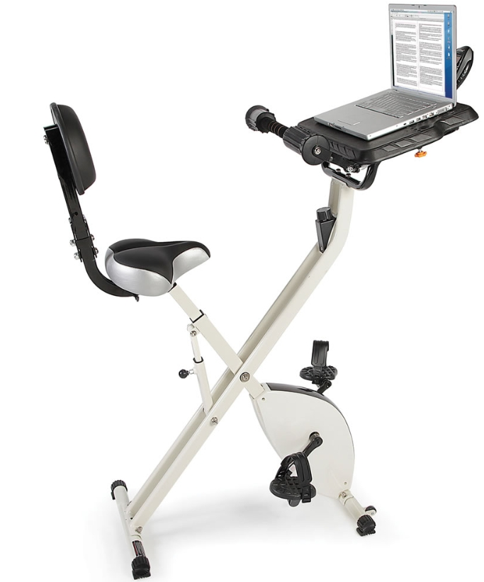 The Foldaway Exercise Bicycle Desk