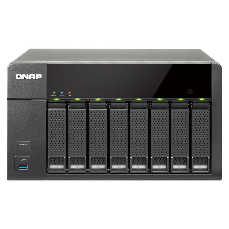 8-Bay Personal Cloud NAS, Intel 2.41GHz Dual Core CPU with Media Transcoding