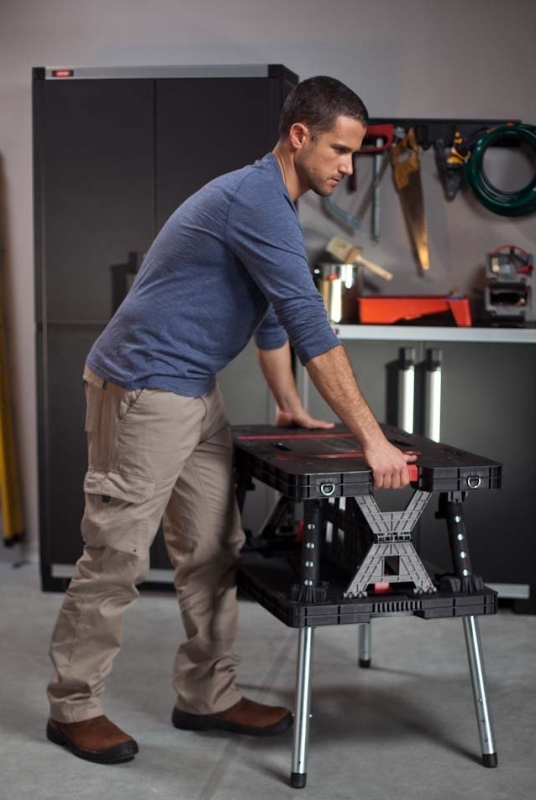 Adjustable Leg Folding Work Table