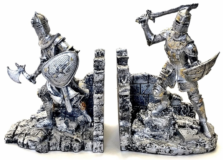 Decorative Bookends Arthurian Knight Book End