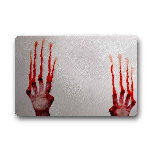 Funny Creepy Blood Bloody Hands Indoor  Outdoor Doormats