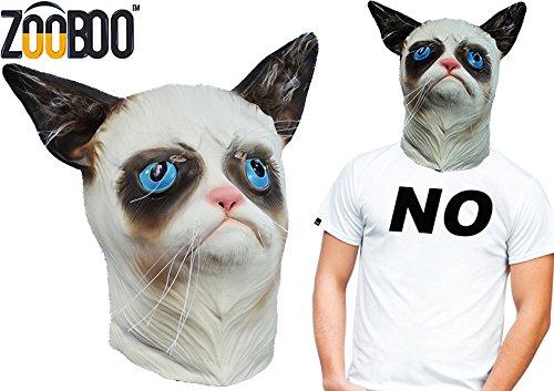 Grumpy Cat Full Head Mask Halloween Costume prop