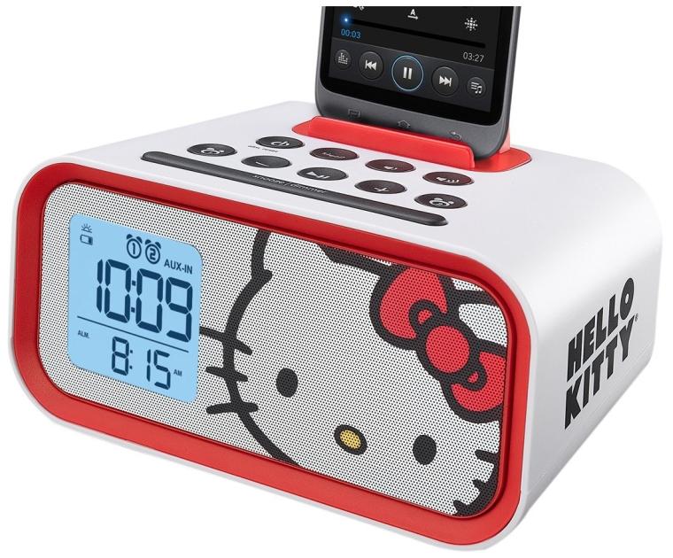 Hello Kitty Dual Alarm Clock Speaker System