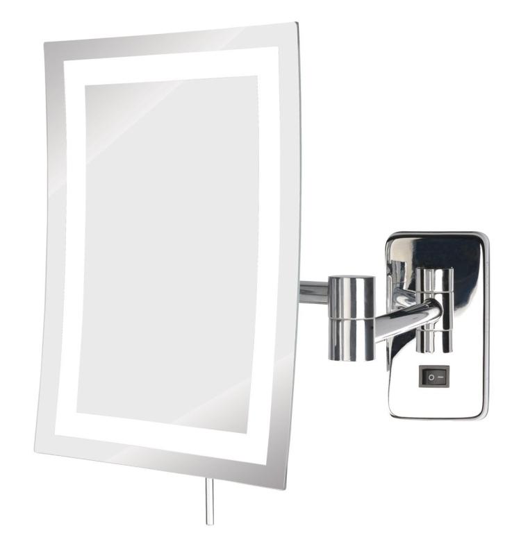 LED Lighted Wall Mount Rectangular Makeup Mirror