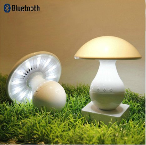 Mushroom shaped LED Touch Controlled Table Lamps Decorate Wireless Bluetooth Speaker