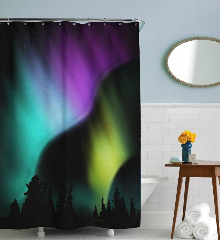 Sharp Shirter Aurora Shower Curtain
