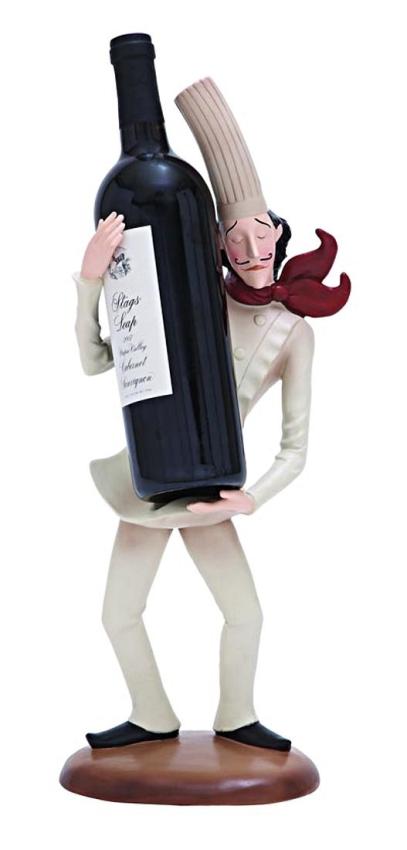 Skinny Chef Wine Bottle or Menu Holder