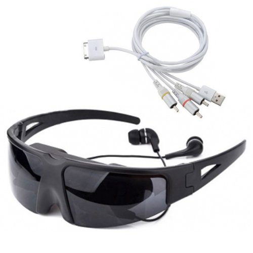 Virtual Digital Video Glasses AV Cable For iPhone Smartphone Device