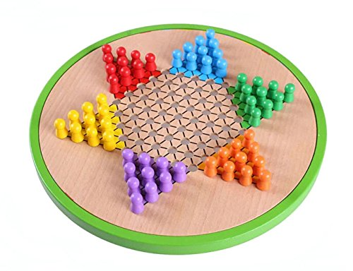 5 in 1 Multi-functional Wooden Chinese Checkers Game