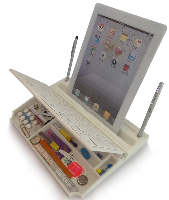 6 in ONE Bluetooth wireless keyboard executive Stand&Organizer