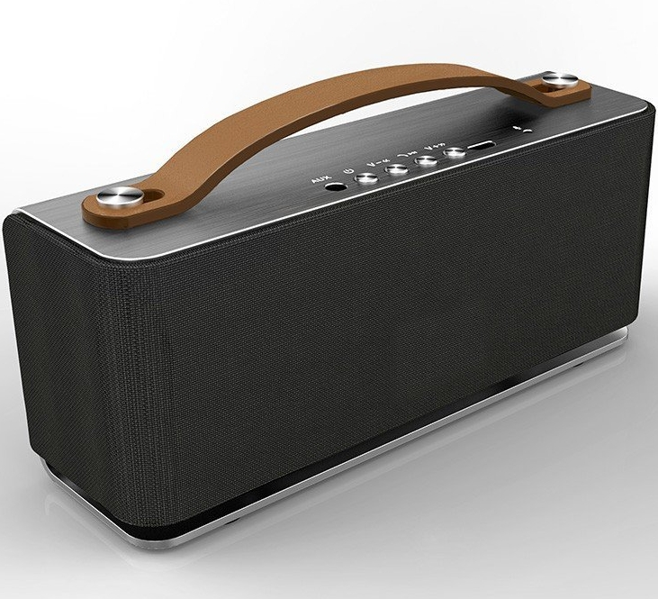 Aluminum Bluetooth Speaker w Mic A Portable Wireless Stereo Bluetooth 4.0 Speaker