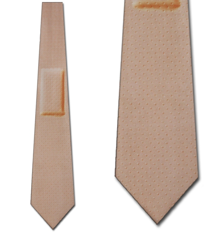 Bandage Band Aid tie Mens Doctor Necktie