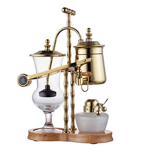Belgium Luxury Royal Family Balance Syphon Coffee Maker Gold Color