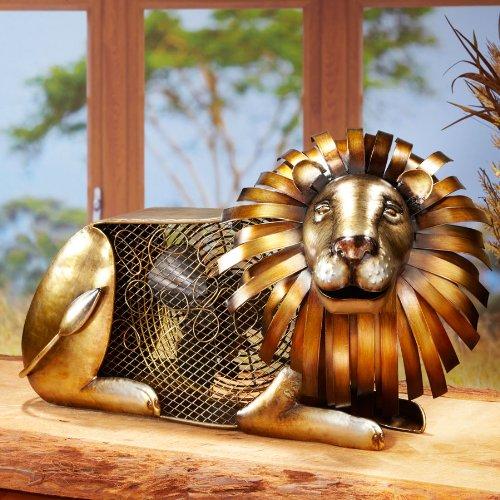 Deco Breeze Lion Figurine Fan