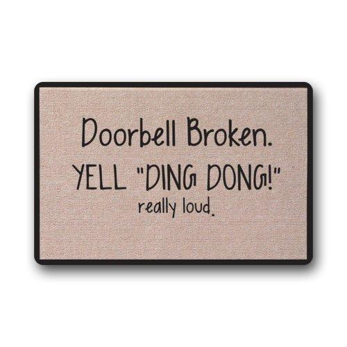 Doorbell Broken Yell DING DONG really loud Door Mats