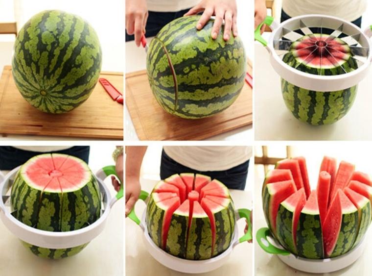 Fruit Corer Slicer Melon Slicer Green Handle