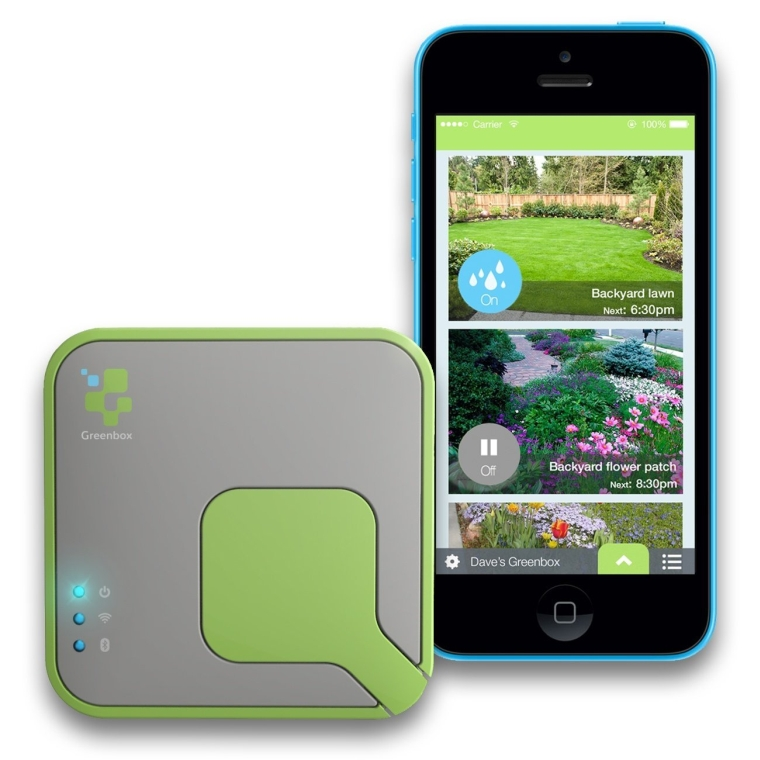 Greenbox Smartphone Controlled Automated Irrigation Sprinkler System for Garden and Lawn