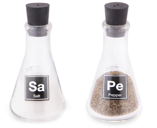 LAB FLASK SALT  PEPPER SHAKERS