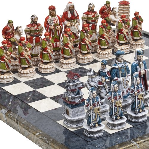 Luxury Chessmen  Mancini Chess Board
