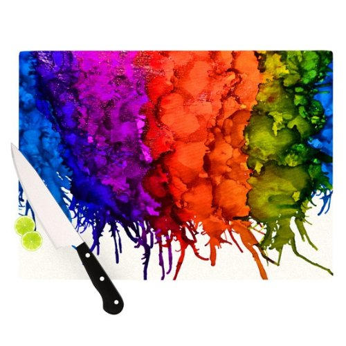 Rainbow Splatter Artists Cutting Board