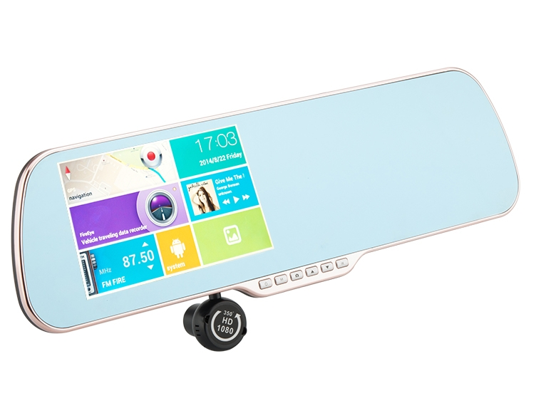 Rearview Mirror Android Mirror 'Gold Vision'