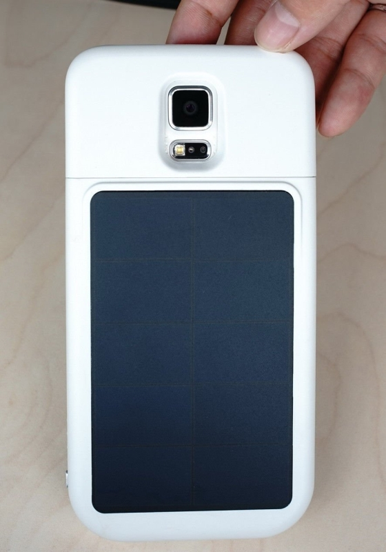 Samsung Galaxy S5 SOLAR Case Battery External Cover Charger Power Bank 4000mAh
