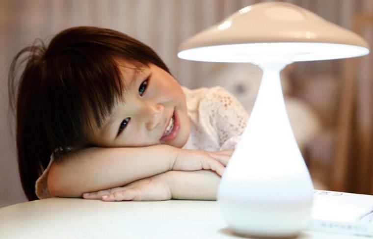 Smart Touch Control Sensor Mushroom Night Light With Air Purifier