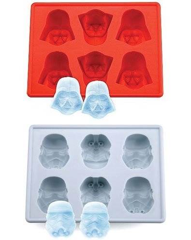 Star Wars Darth Vader  Storm Trooper Silicon Ice Cube Tray Set Of 2