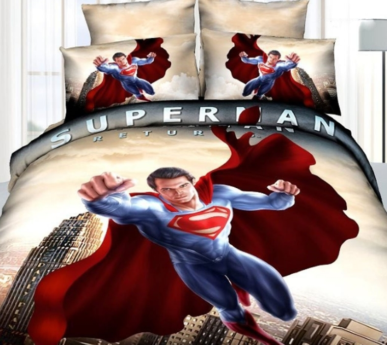 Superman Super Hero Cotton Bed Linen 3d Bedroom Set 3d Bedding Set