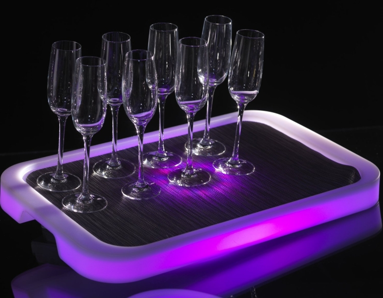 TRON RECTANGLE LED lighted serving tray