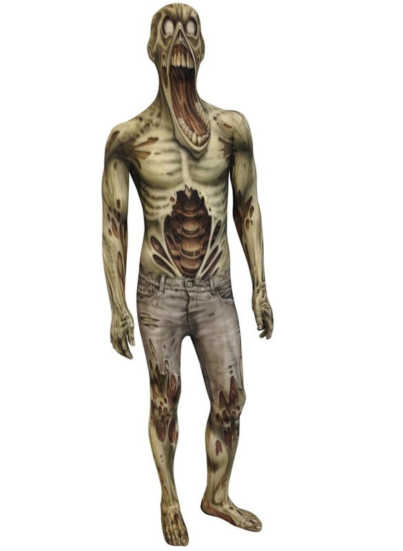 The Zombie Monster Morphsuit Kids Costume