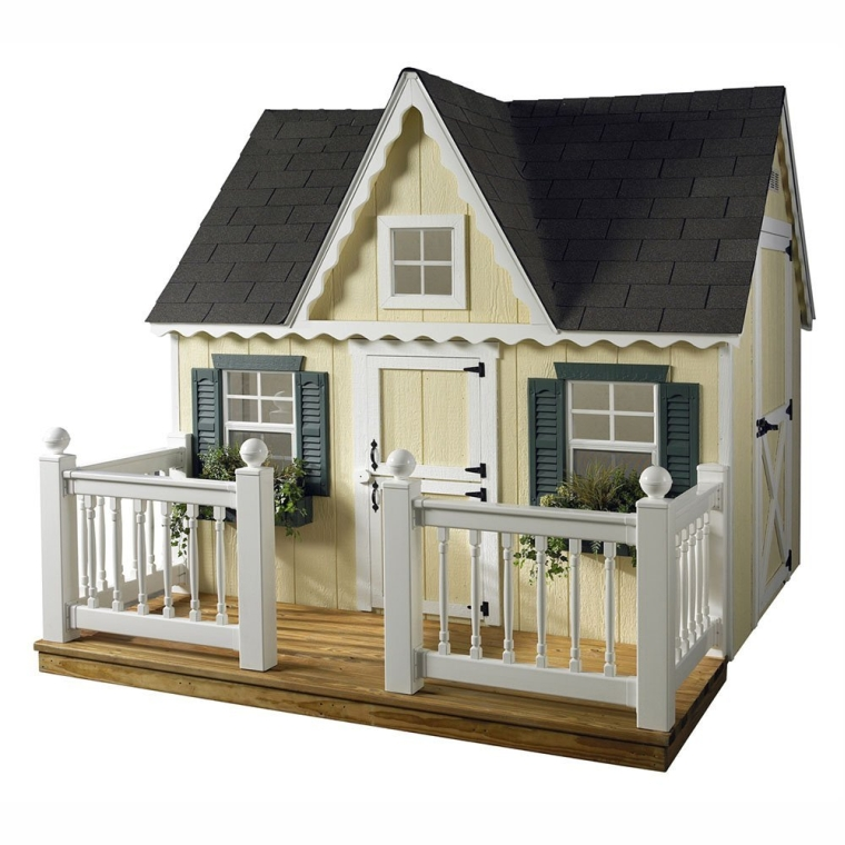 Victorian Playhouse with Porch and Railing