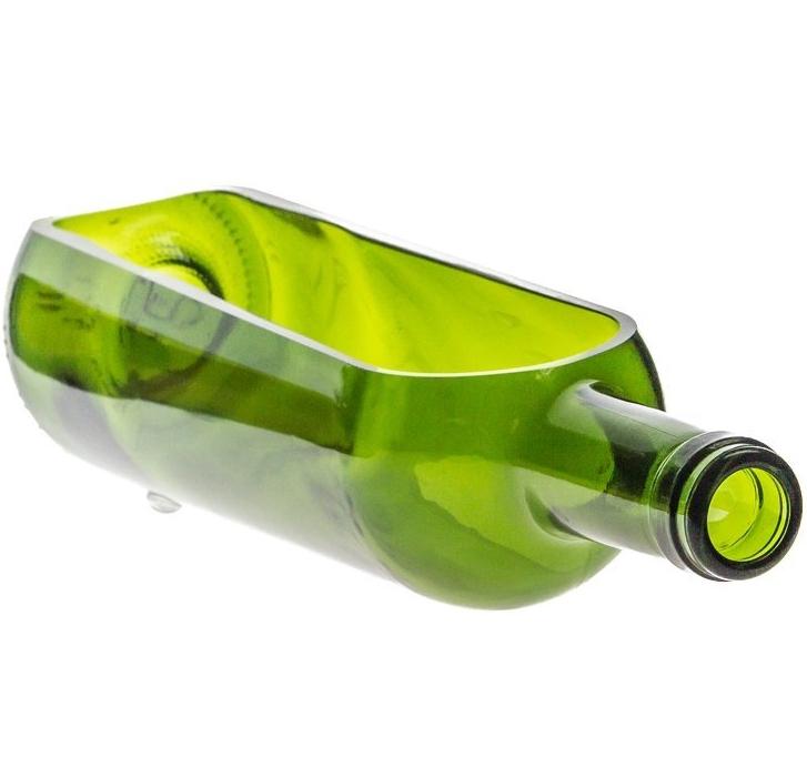Wine Bottle Serving Tray Green