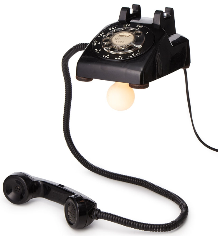 floating phone lamp