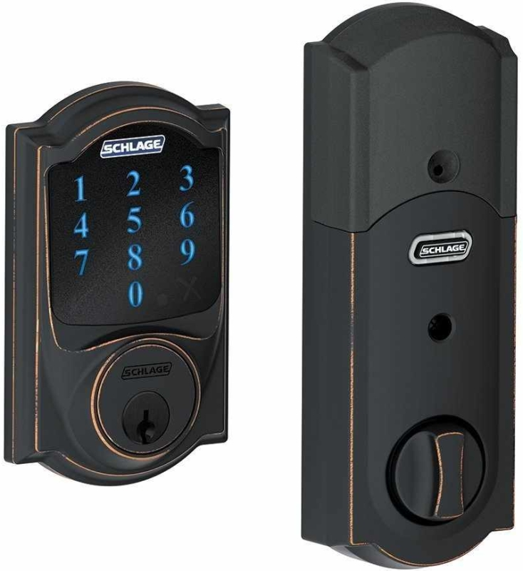 Camelot Z-Wave Touchscreen Deadbolt with Built-In Alarm