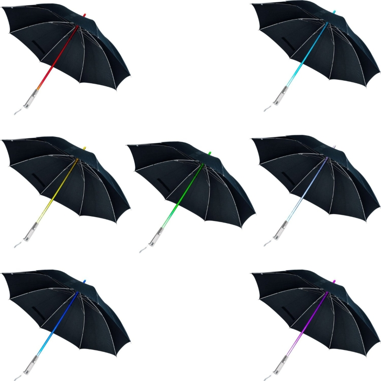 Color Changing LED Umbrella with Flashlight