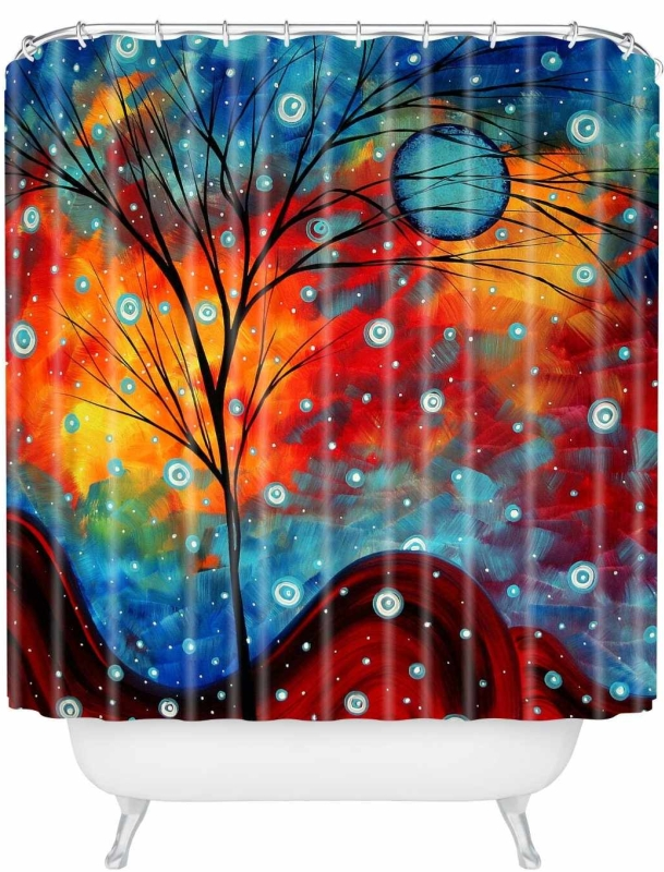 Designs Madart Summer Snow Shower Curtain