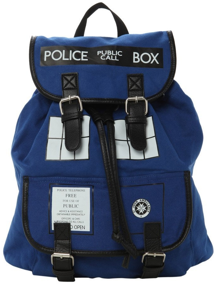 Doctor Who Slouch Tardis Backpack