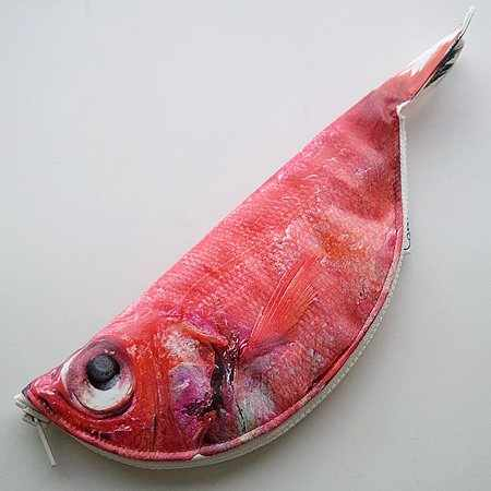 Fish Pencil Case Japanese grilled food pen pouch