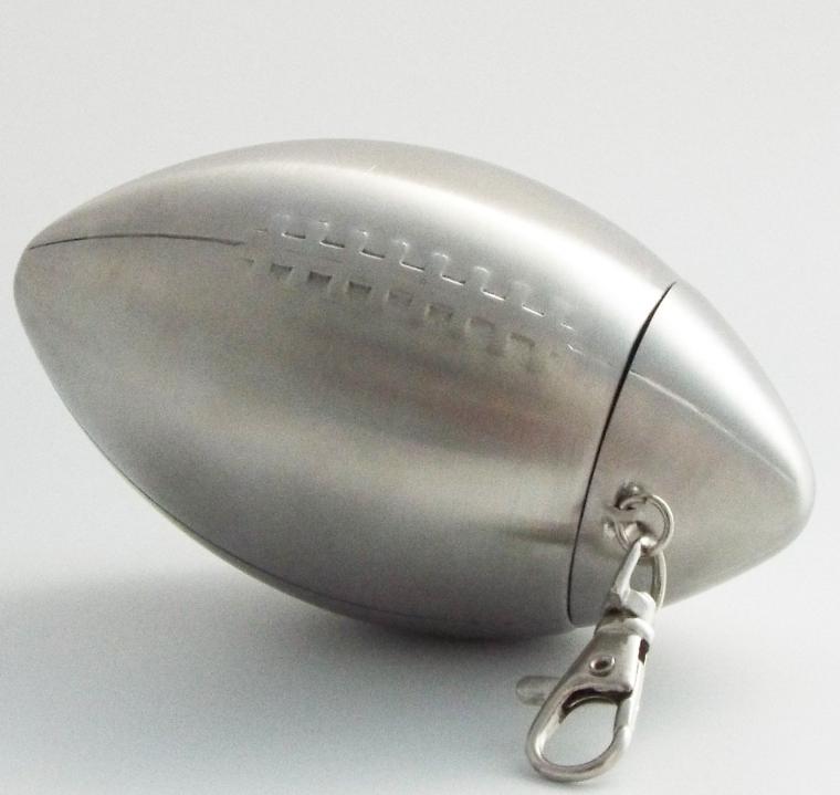 Football Design Steel Hip Flask