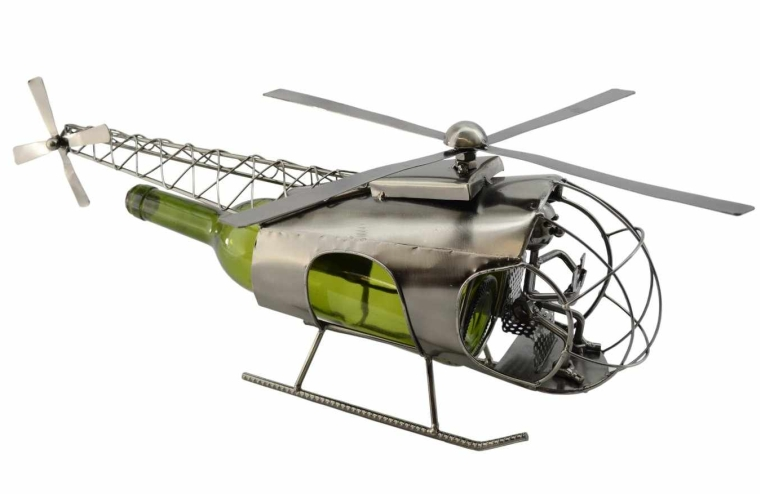 Helicopter by Wine Bodies, Metal Wine Bottle Holders