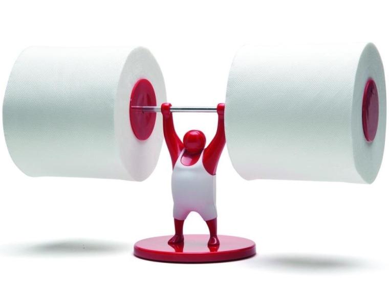 Man Weightlifter Bathroom Toilet Paper Tissue Roll Holder