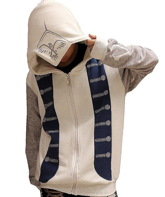 Men Hoodie Cosplay Costume Top Coat Jacket