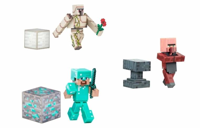 Minecraft Overworld Series 2 Action Figure Bundle