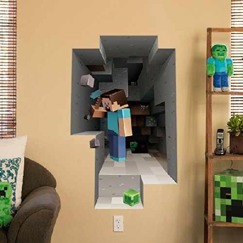 Minecraft Vinyl Wall Graphics Mining 2-Pack