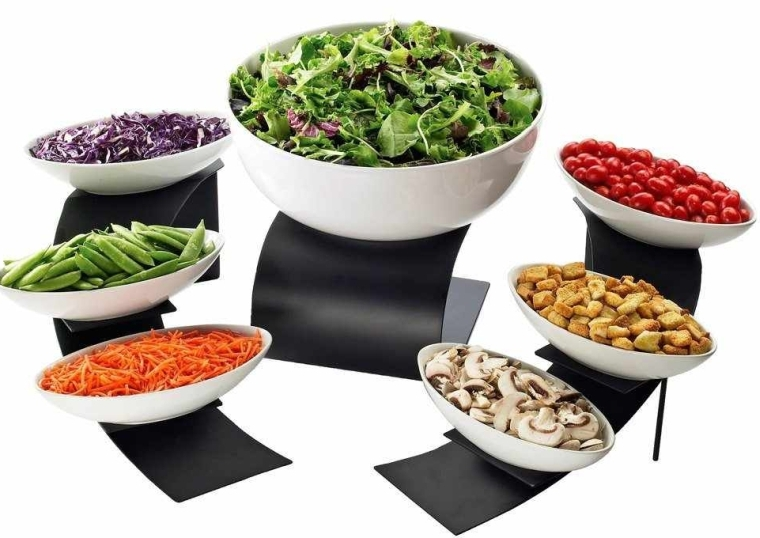 Mix and Match Bowl Display Stand Set Black