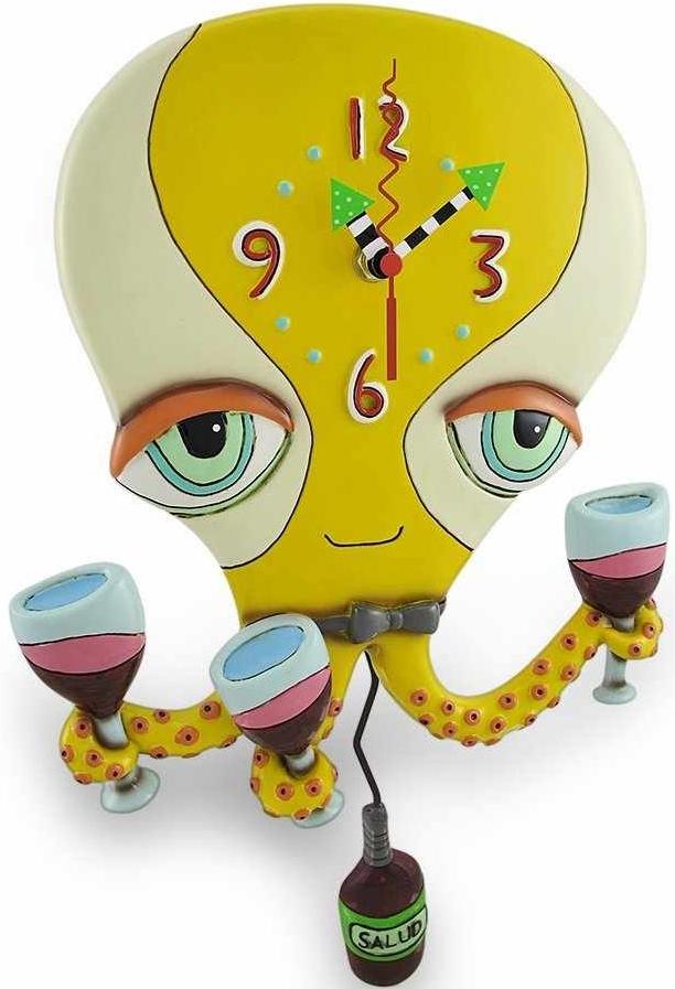 Octopus Pendulum Wall Clock