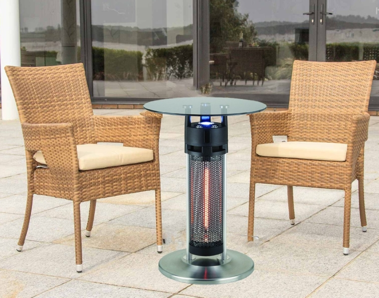 Outdoor Electric Patio Heater with LED Light and Infrared Heated Table