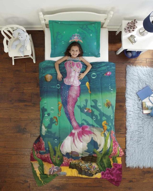 Sea Princess Ultra Soft Microfiber 2-Piece Twin Comforter Sham Set