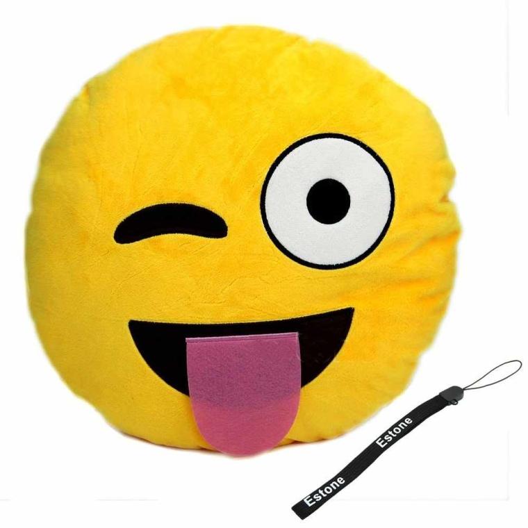 Smiley Emoticon Yellow Round Cushion Pillow